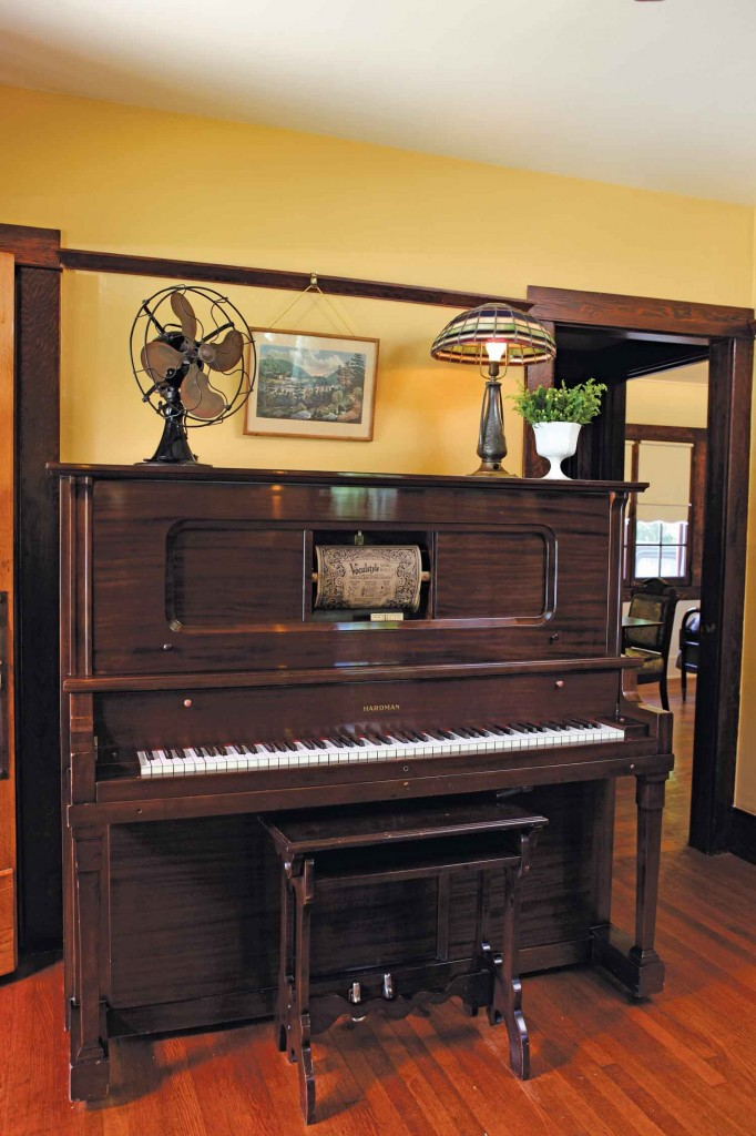 circa 1912 Mahogany player piano