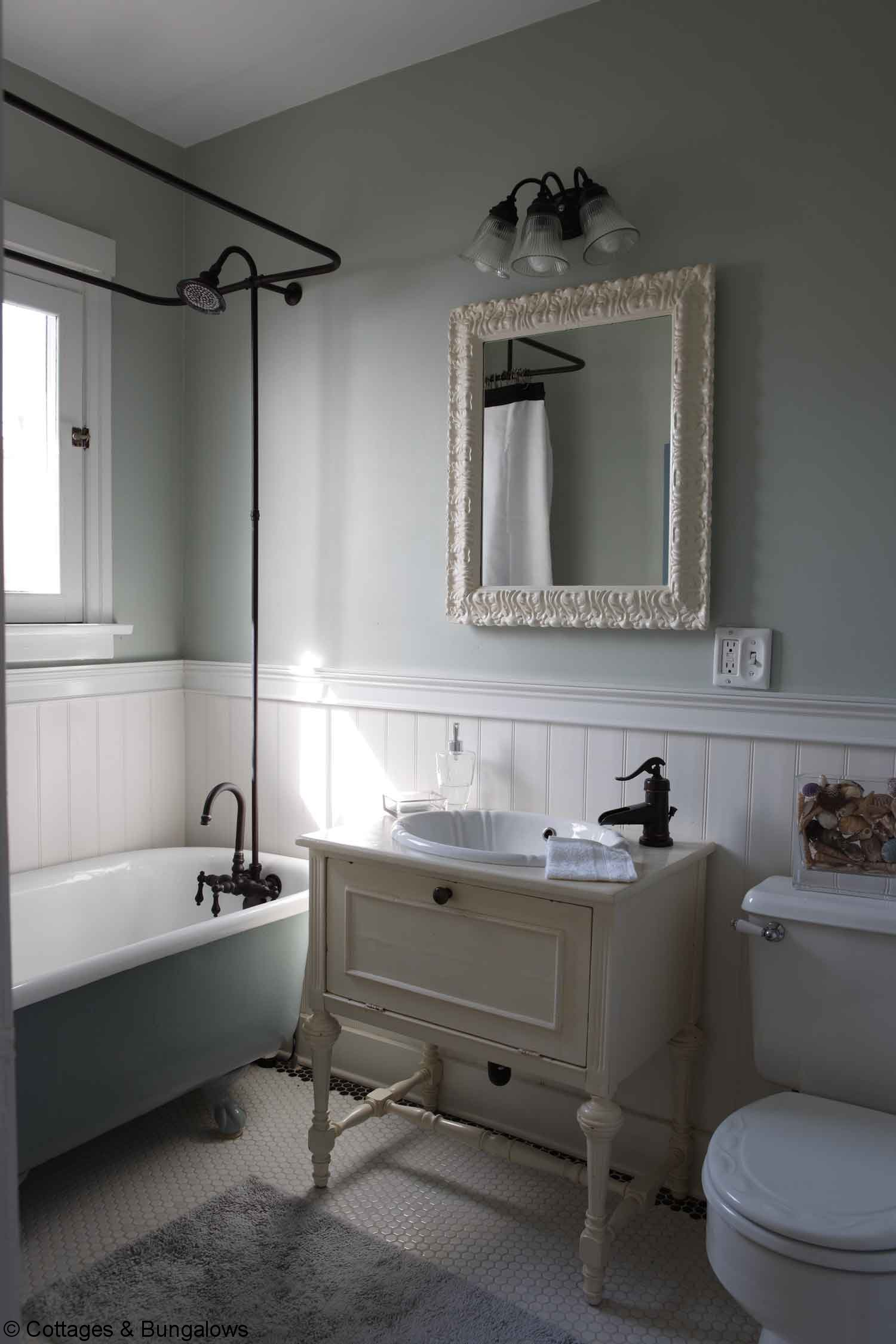 Vintage style bathroom sinks - Bathroom And Installed Vintage Style Hexagonal Tiles