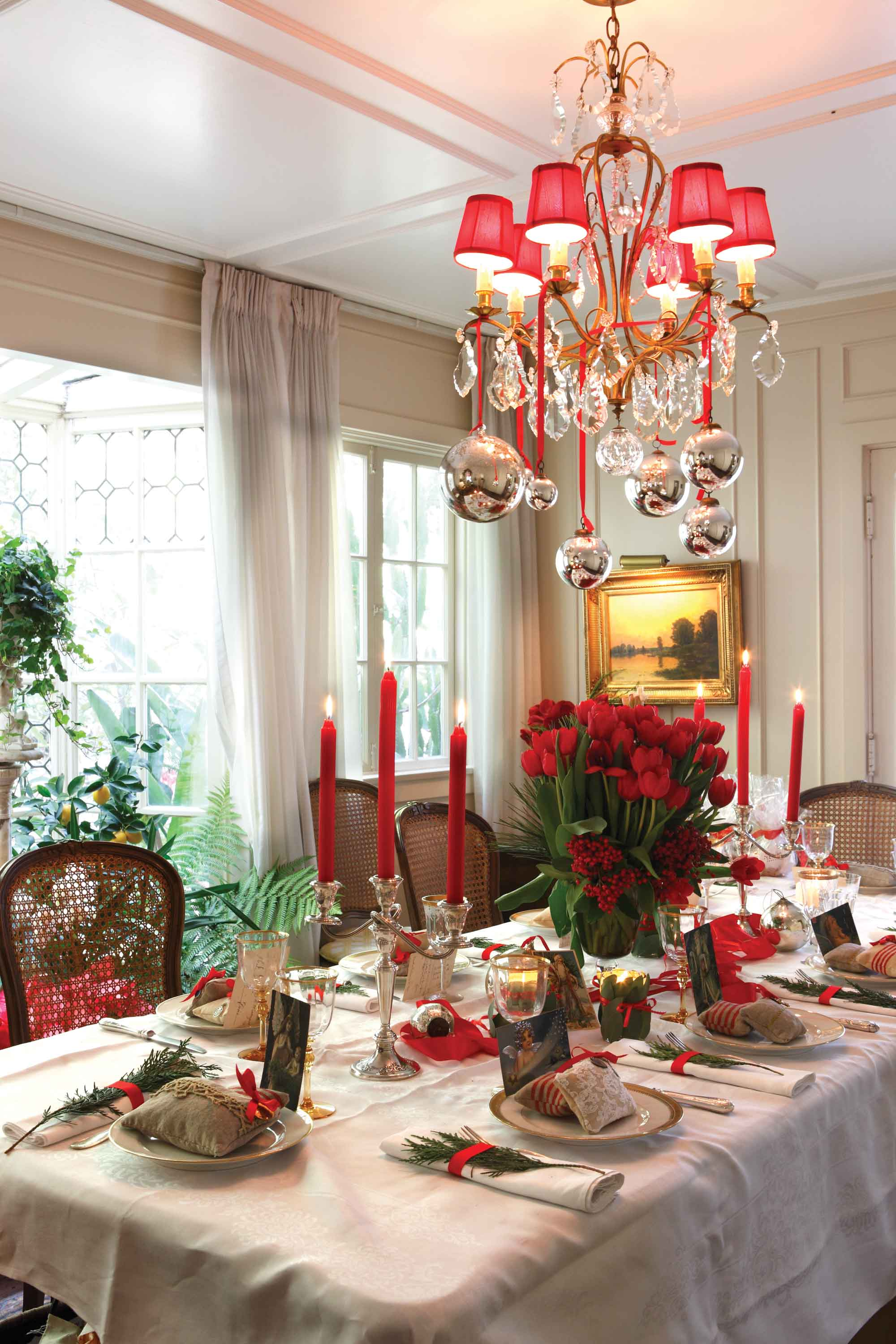 Dining Room Table How To Decorate For Christmas In European Style Holiday Cote