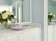 Bright and clean, this bathroom has a style anyone can incorporate.