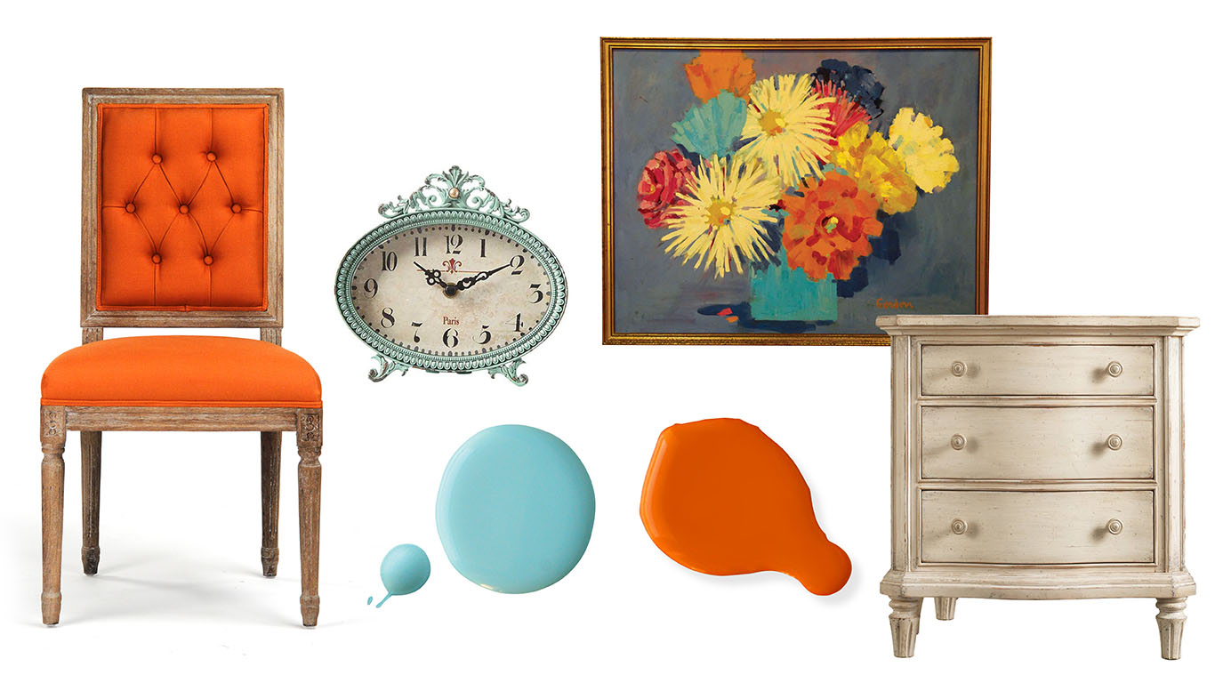 Color Palette: Ocean Breeze and Marigold - Cottage style decorating ...