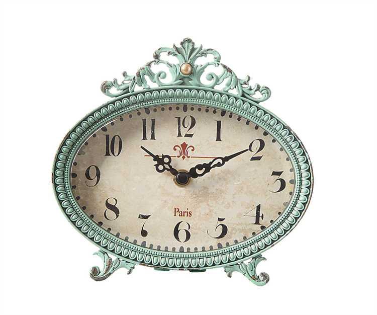 Ocean Breeze Blue French Clock