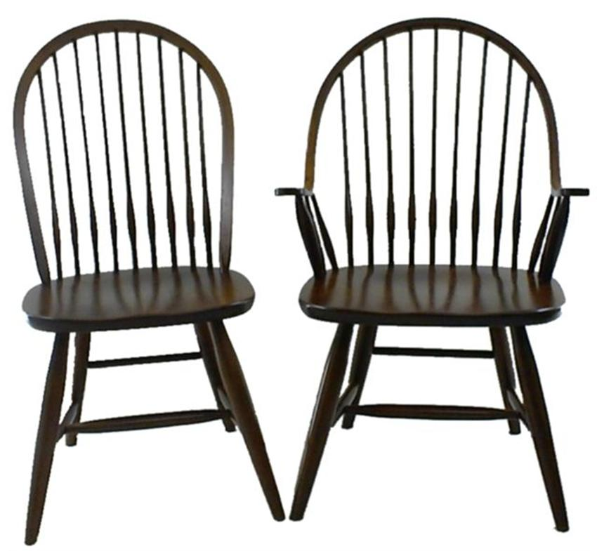 Pid 4510 Amish Ohio Early American Windsor Dining Chair 10