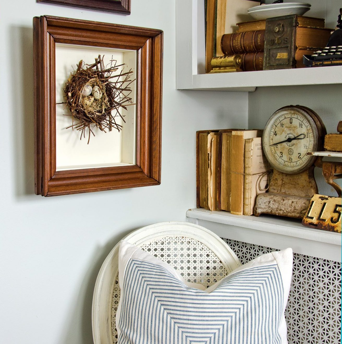 Turn a Flea-Market Frame into a Shadowbox - Cottage style ...