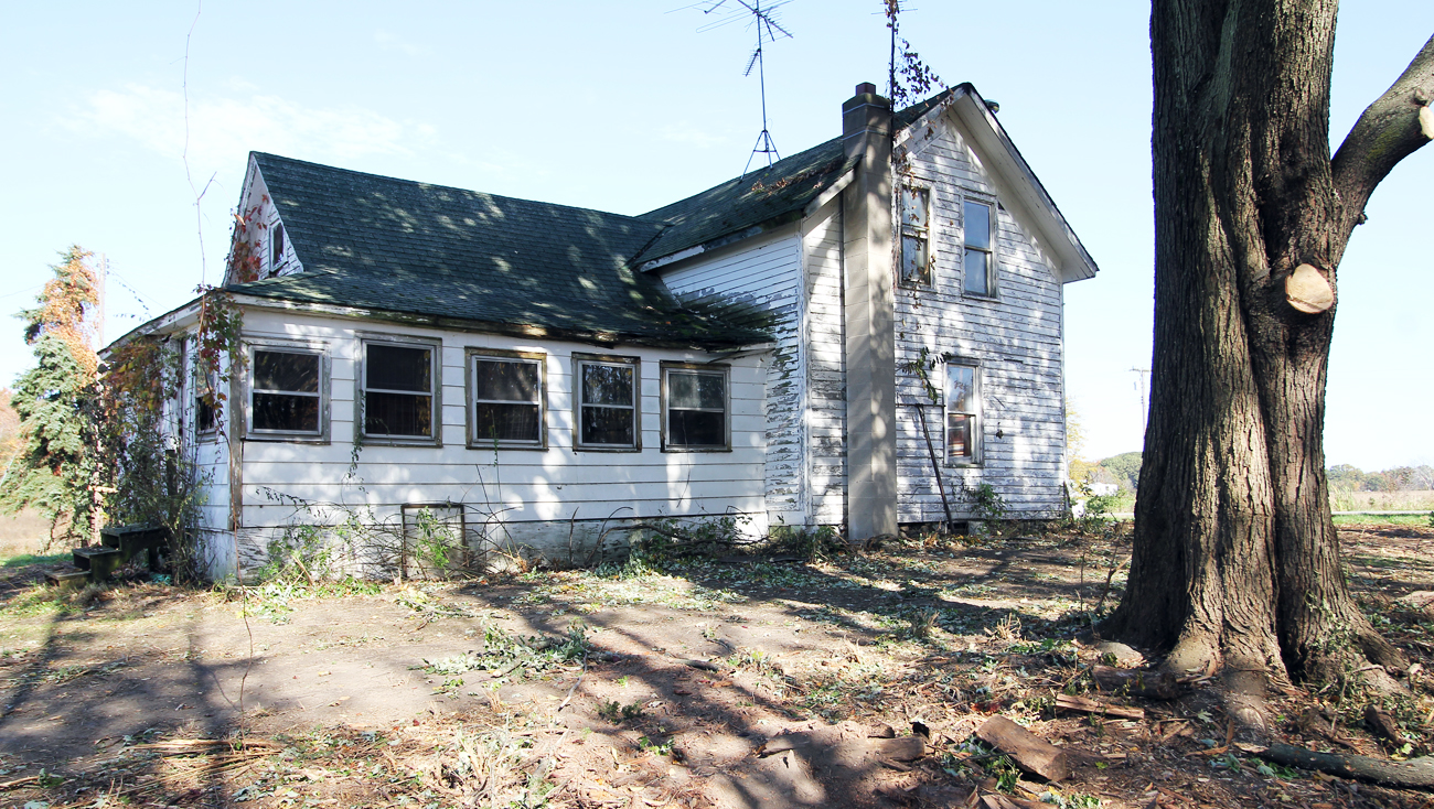 The Bridgers bought this farmhouse and saw potential in it when no ones else did. This is what the home looked like before renovations began.
