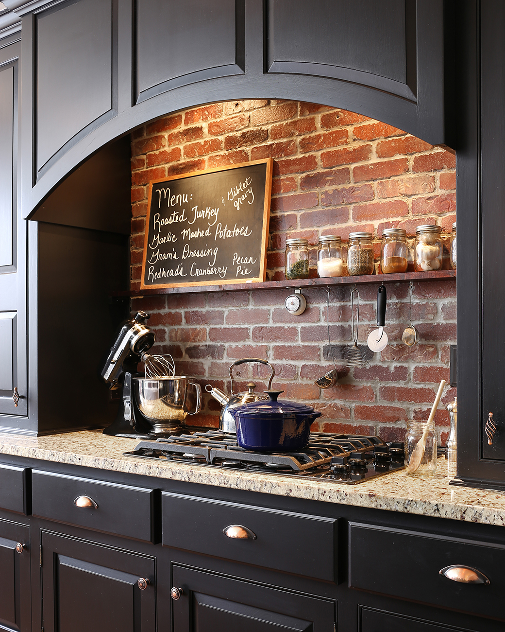 Self Made Cabinets Kept Costs Down In This Kitchen Makeover: House Tour: DIY Style With Dark Woods & Natural Touches