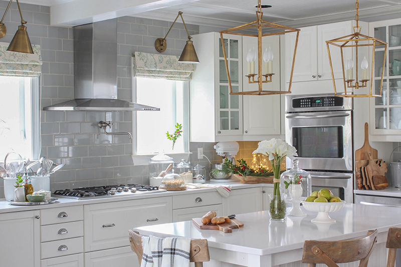 Christmas Kitchen Cottage Style Decorating Renovating And
