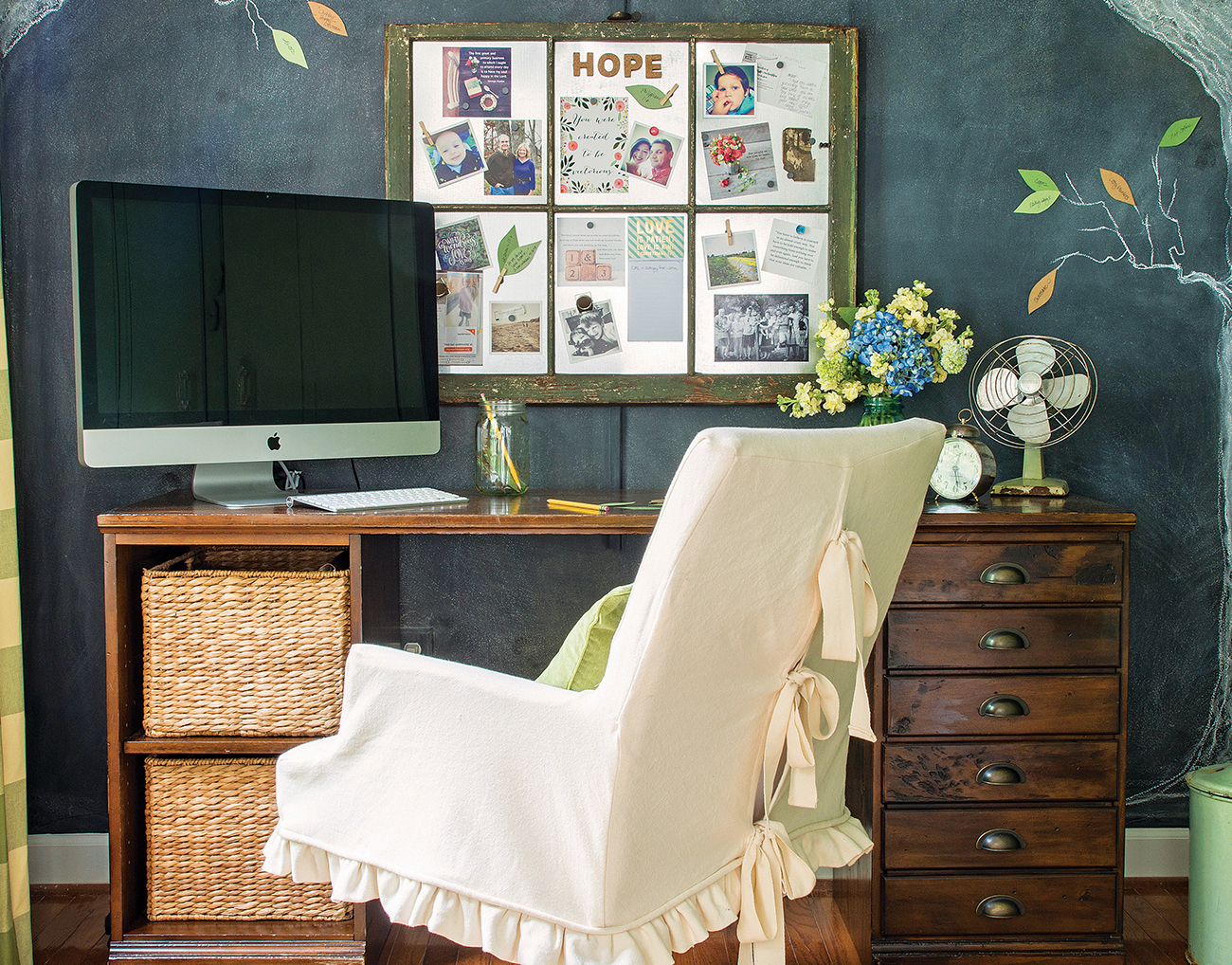 Home Office Makeover: From Cluttered to Creative - Cottage style ...