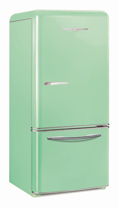 Northstar mint green fridge
