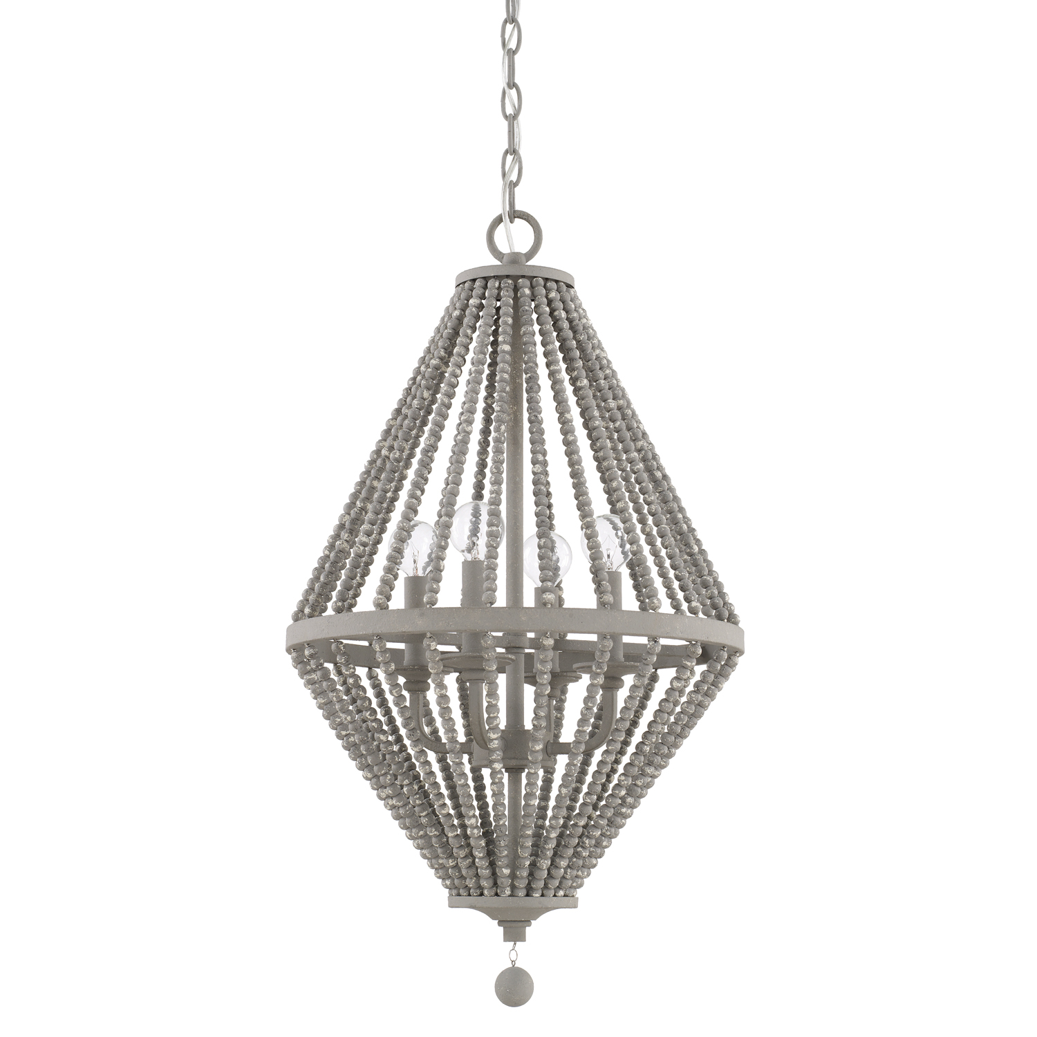 Kima beaded chandelier in paris gray