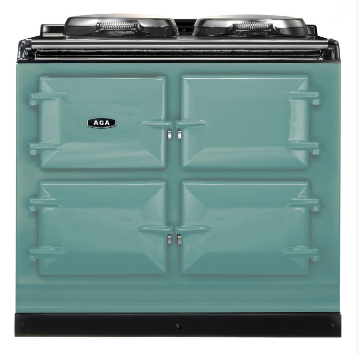 Aga cast iron cooking range in pistachio