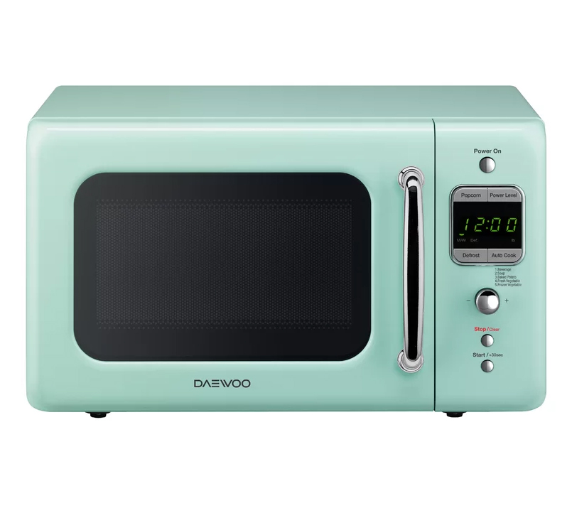 Dawoo retro microwave in mint green