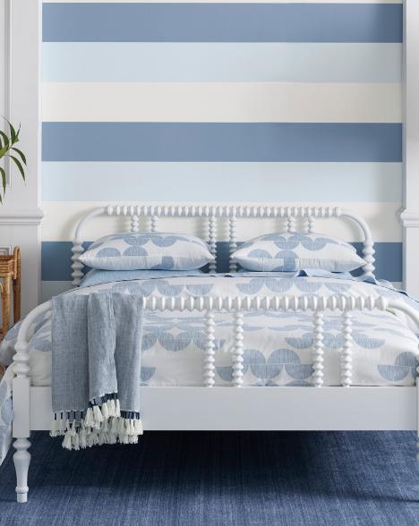 Coastal Striped Wallpaper