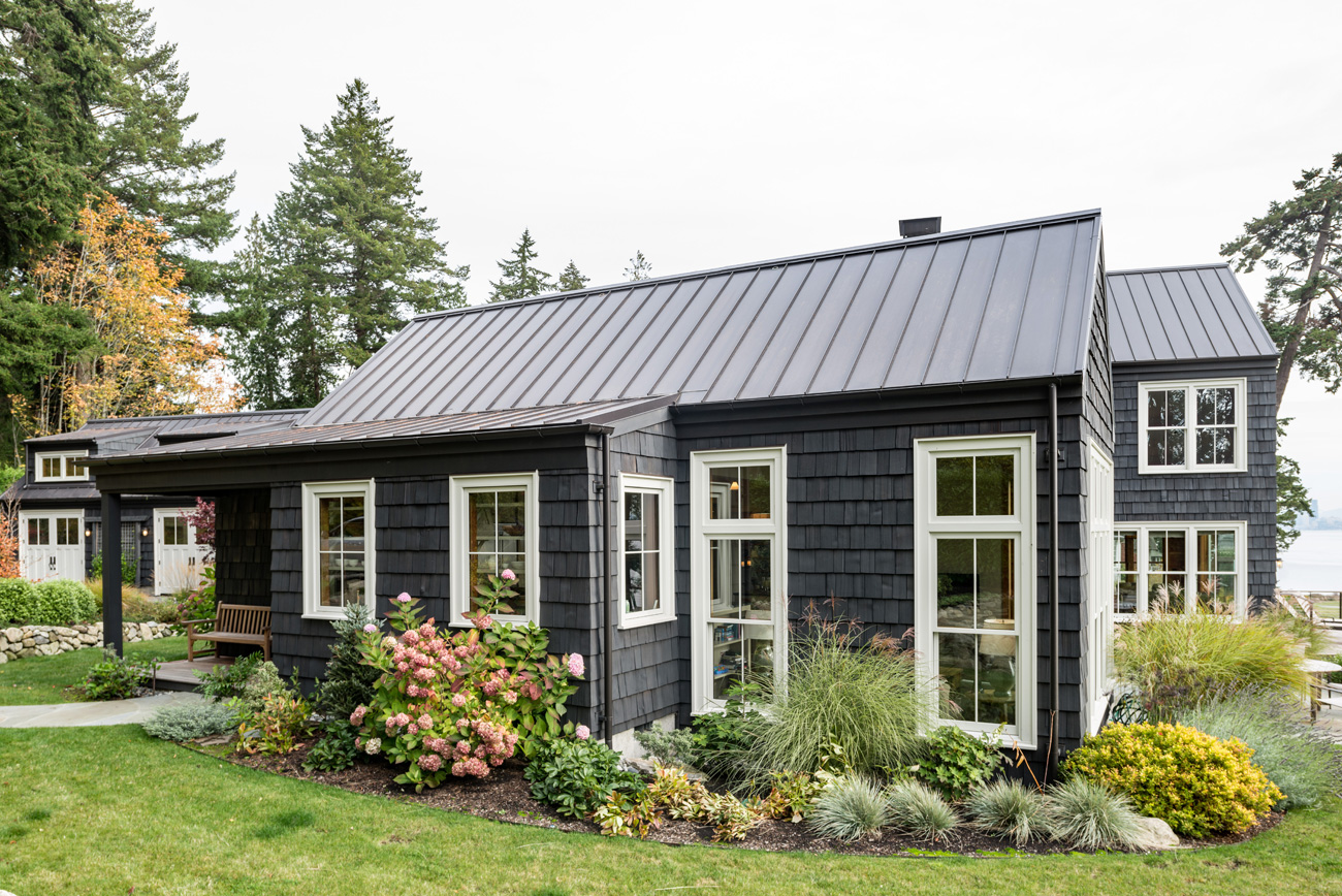 Back exterior of Bainbridge Island Cottage
