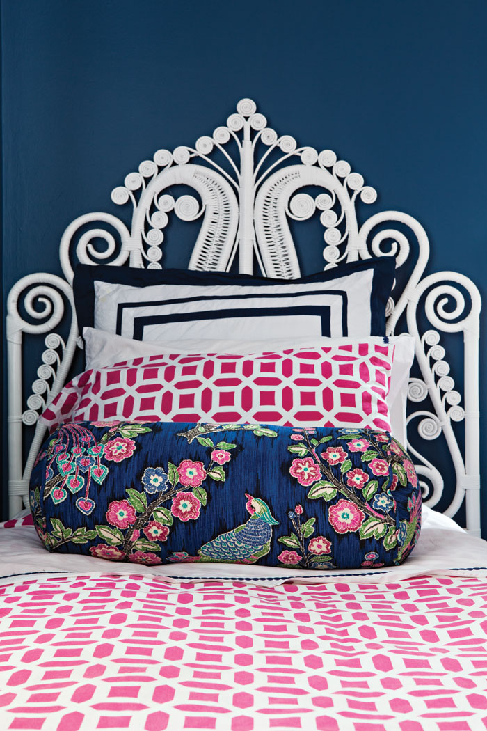 Elegant Headboard with bold color