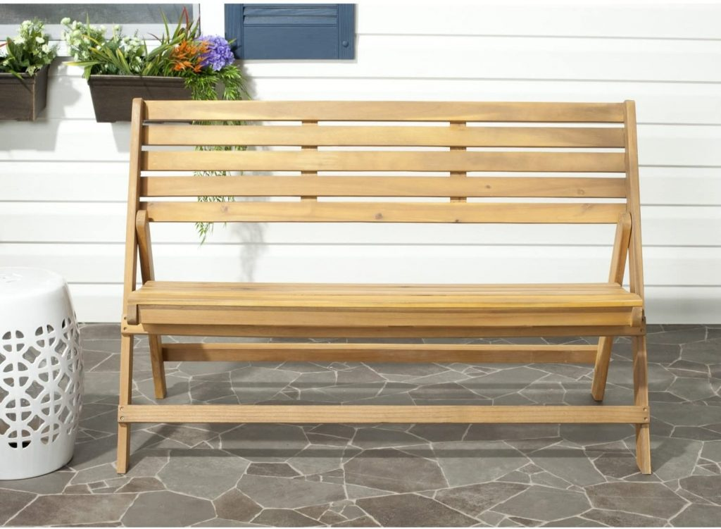folding bench for outdoor bbq