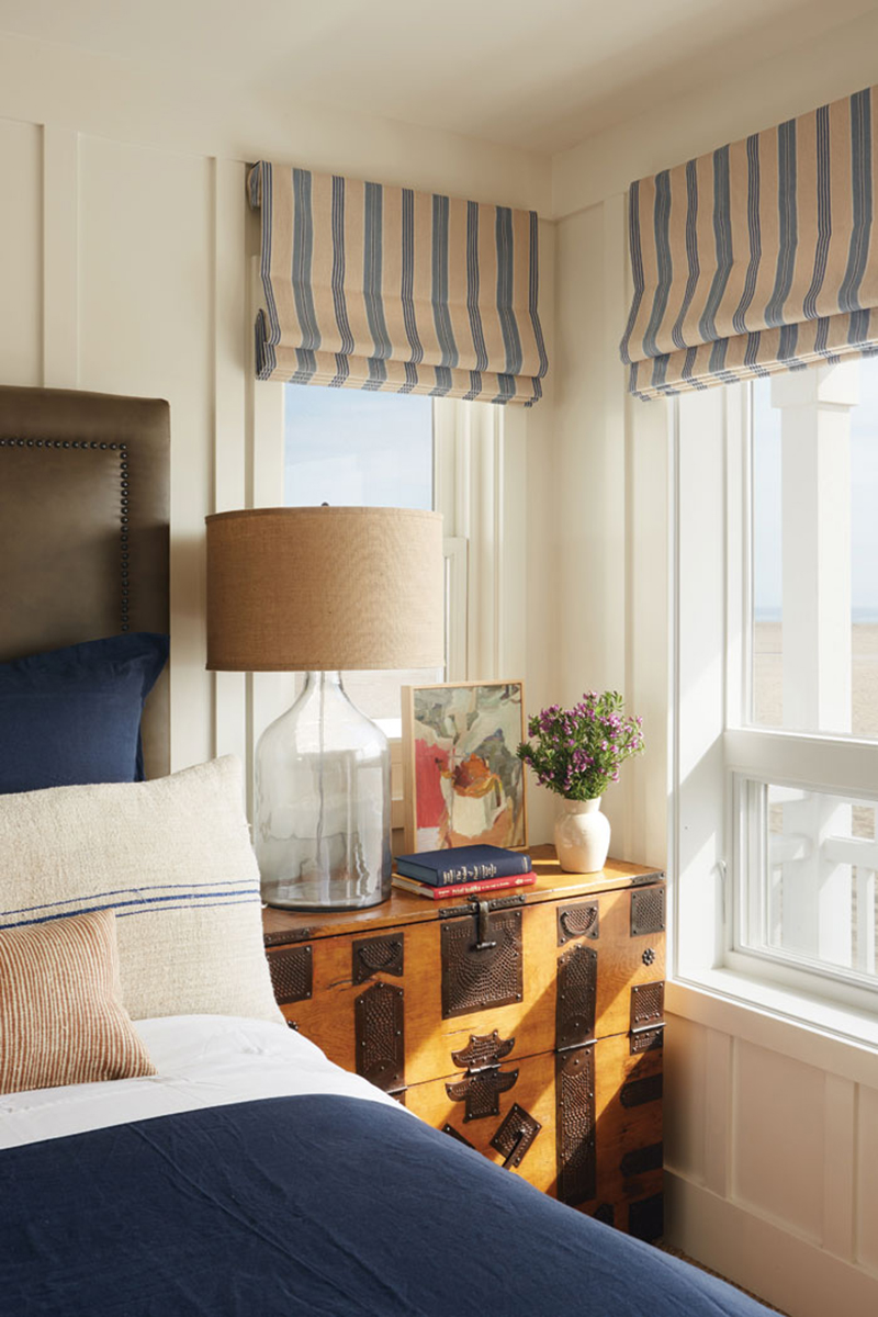 Small master bedroom nook with vintage coastal accents