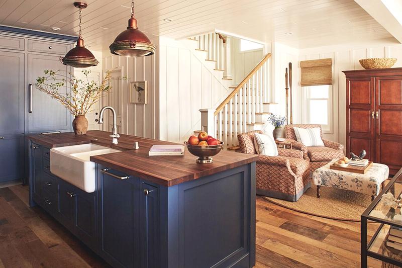 Modern kitchen with vintage furniture
