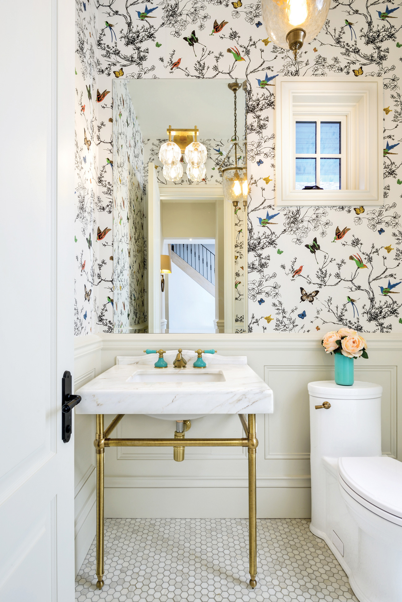 Butterfly powder room