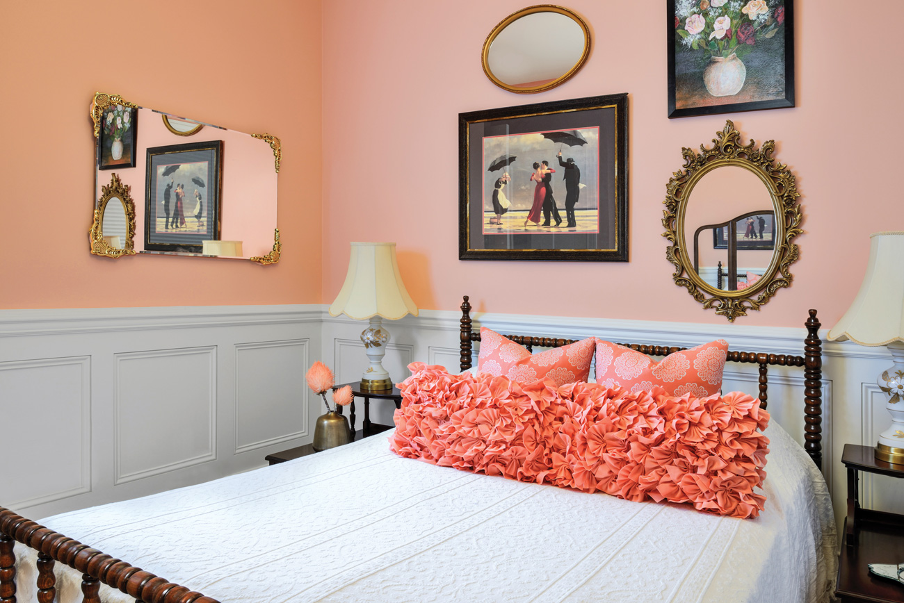 Peach bedroom