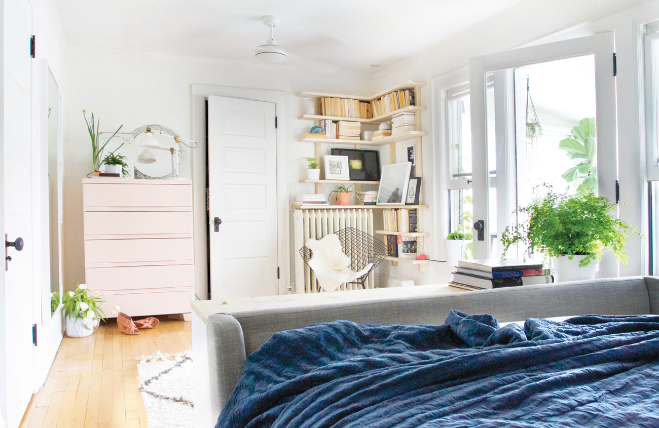 Vintage finds, modern treasures and one-of-a-kind DIY projects combine for a bedroom that perfectly reflects Scandinavian-inspired style