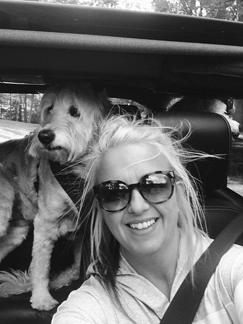 Betsy with dog, Pheeona.
