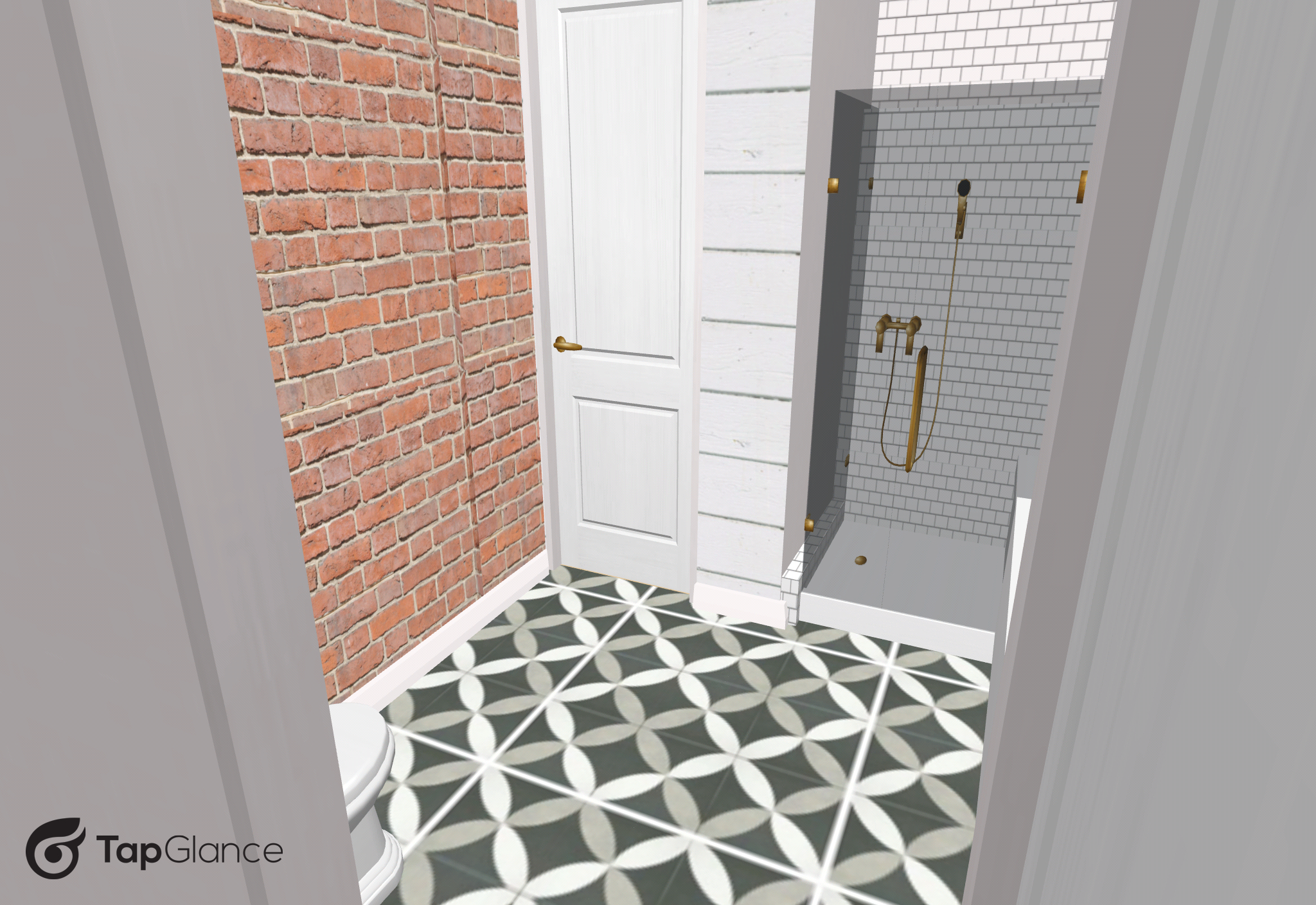 V master bath virtual layout 3 - Cottage style decorating ...