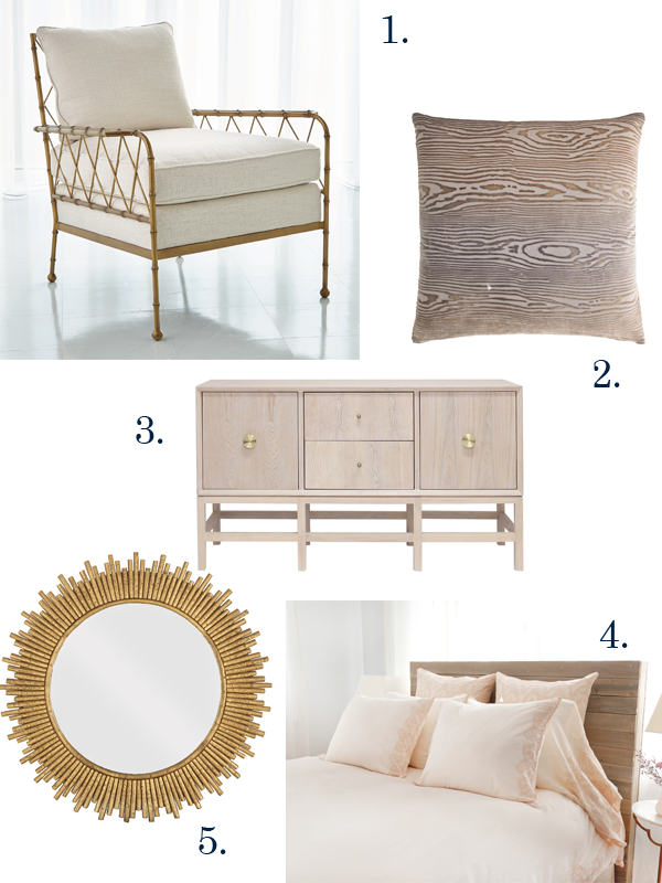 Home décor items for fall from Global Views, Kevin O'Brien Studio, Candelabra, Pom Pom at Home, and La Lune Collection.
