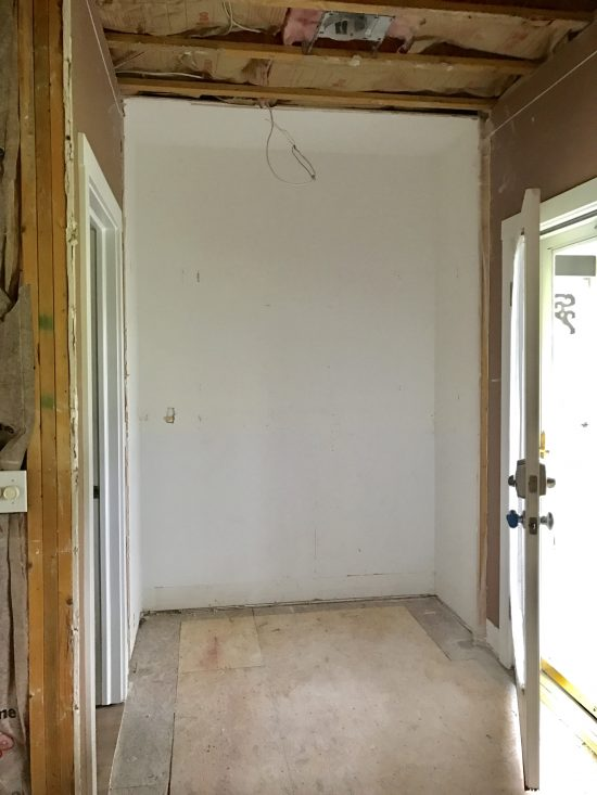 kitchen pantry after demo