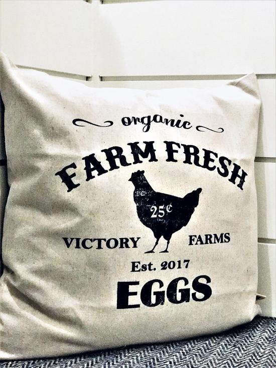 farmhouse fresh throw pillow
