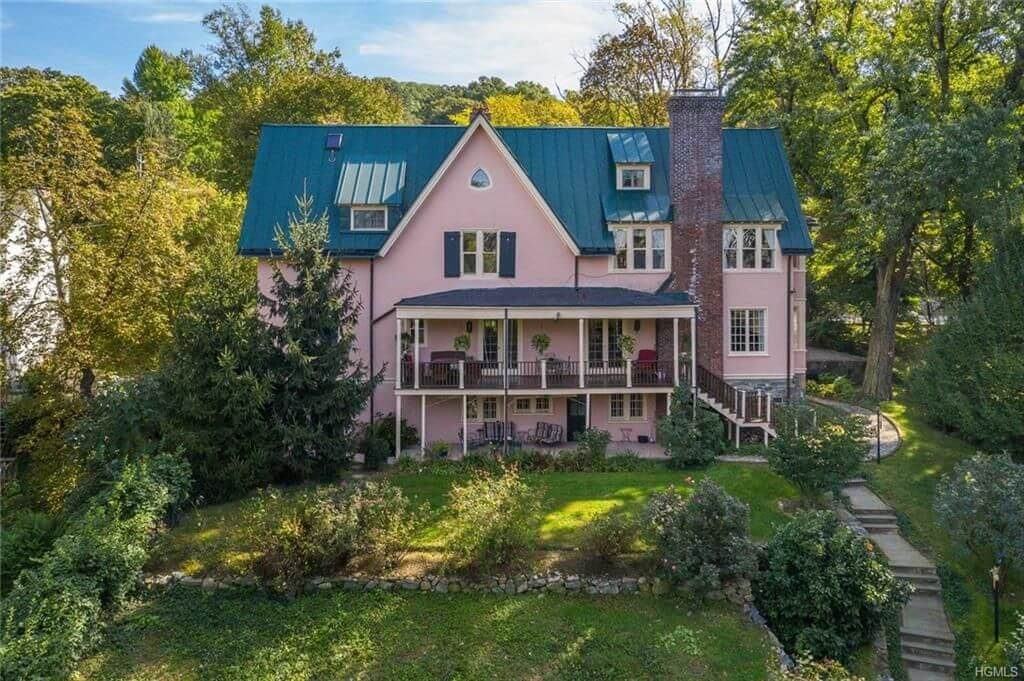 pink historic cottage