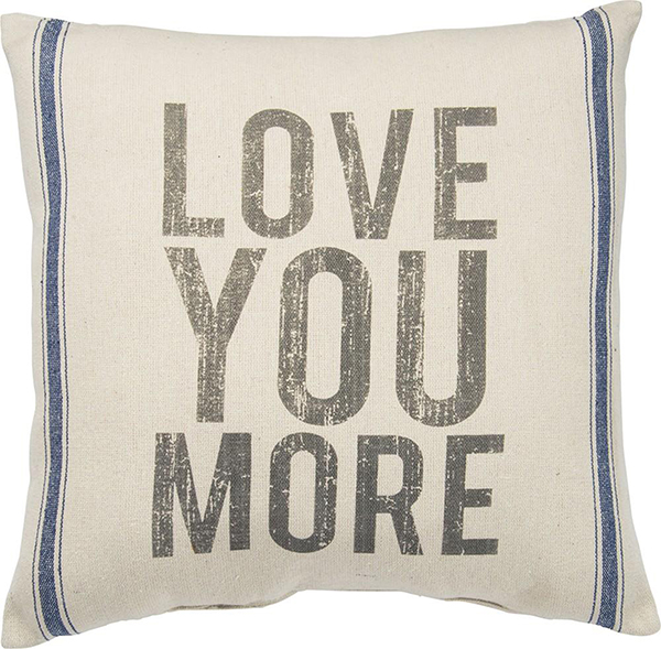 flea market style love pillow