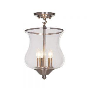 Ravenna Home brushed nickel lighting pendant