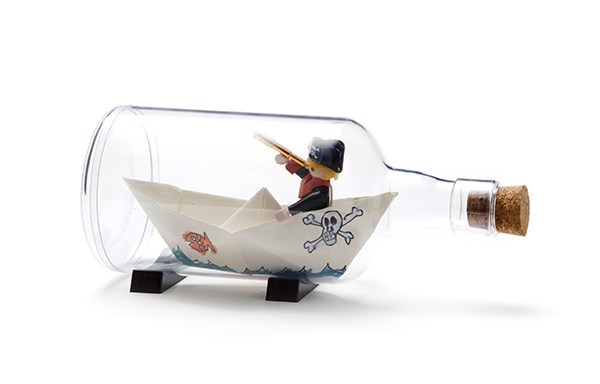 DIY ship in a bottle