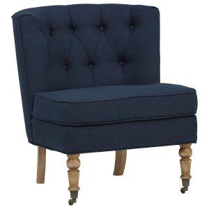 Ravenna Home tufted slipper chair