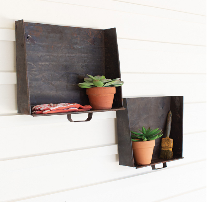 Farmhouse Wall Shelves Cottage Style Decorating