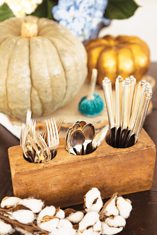 Usining vintage silver is the easiest way to add vintage style to any gathering.