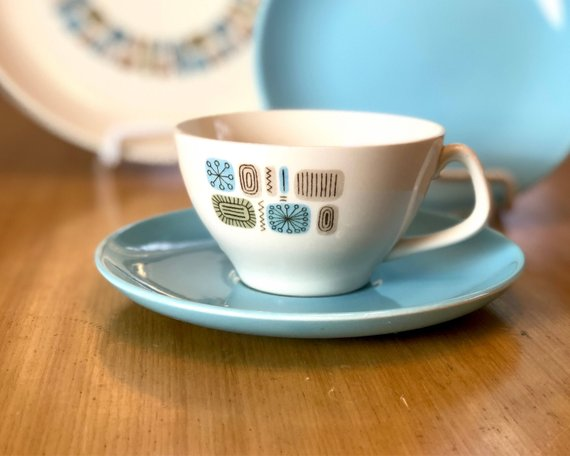 Temporama Teacup and Saucer from Etsy.