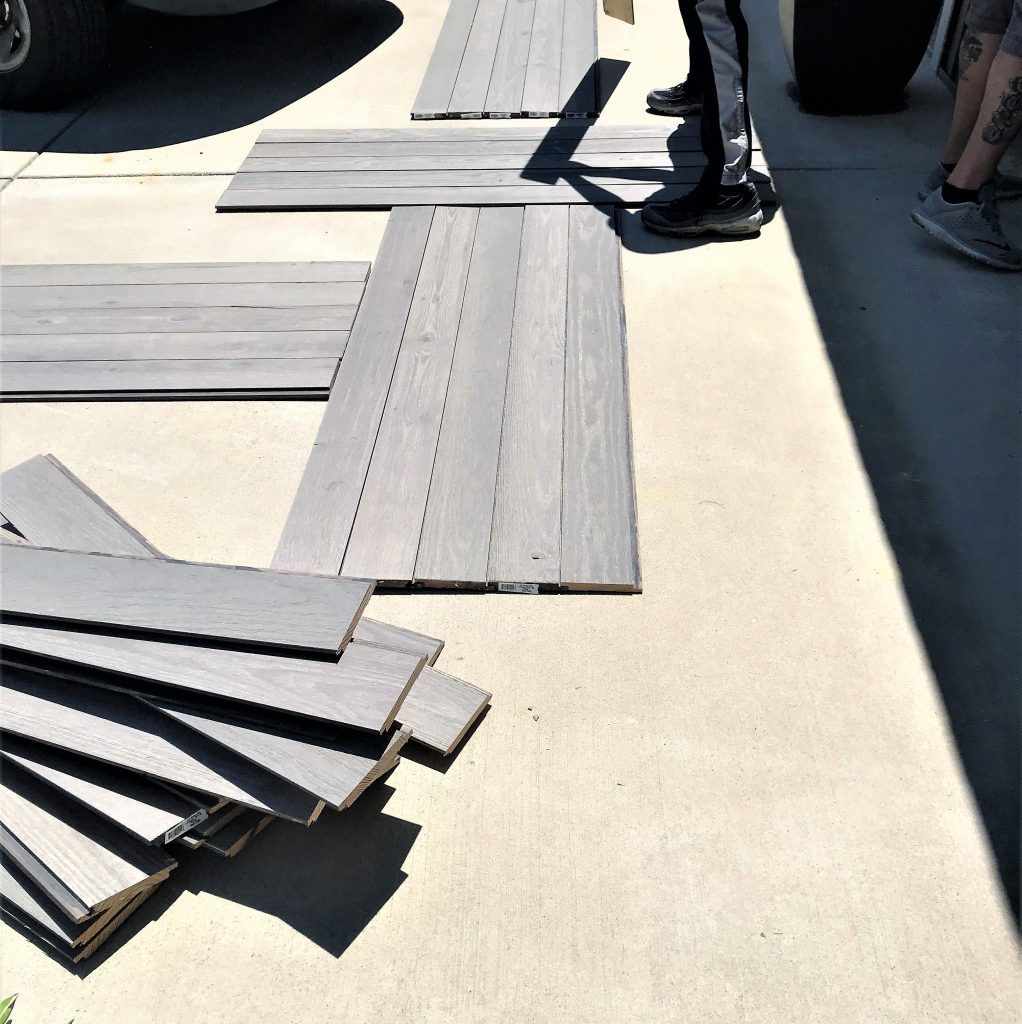 reclaimed wood being turned into shutters