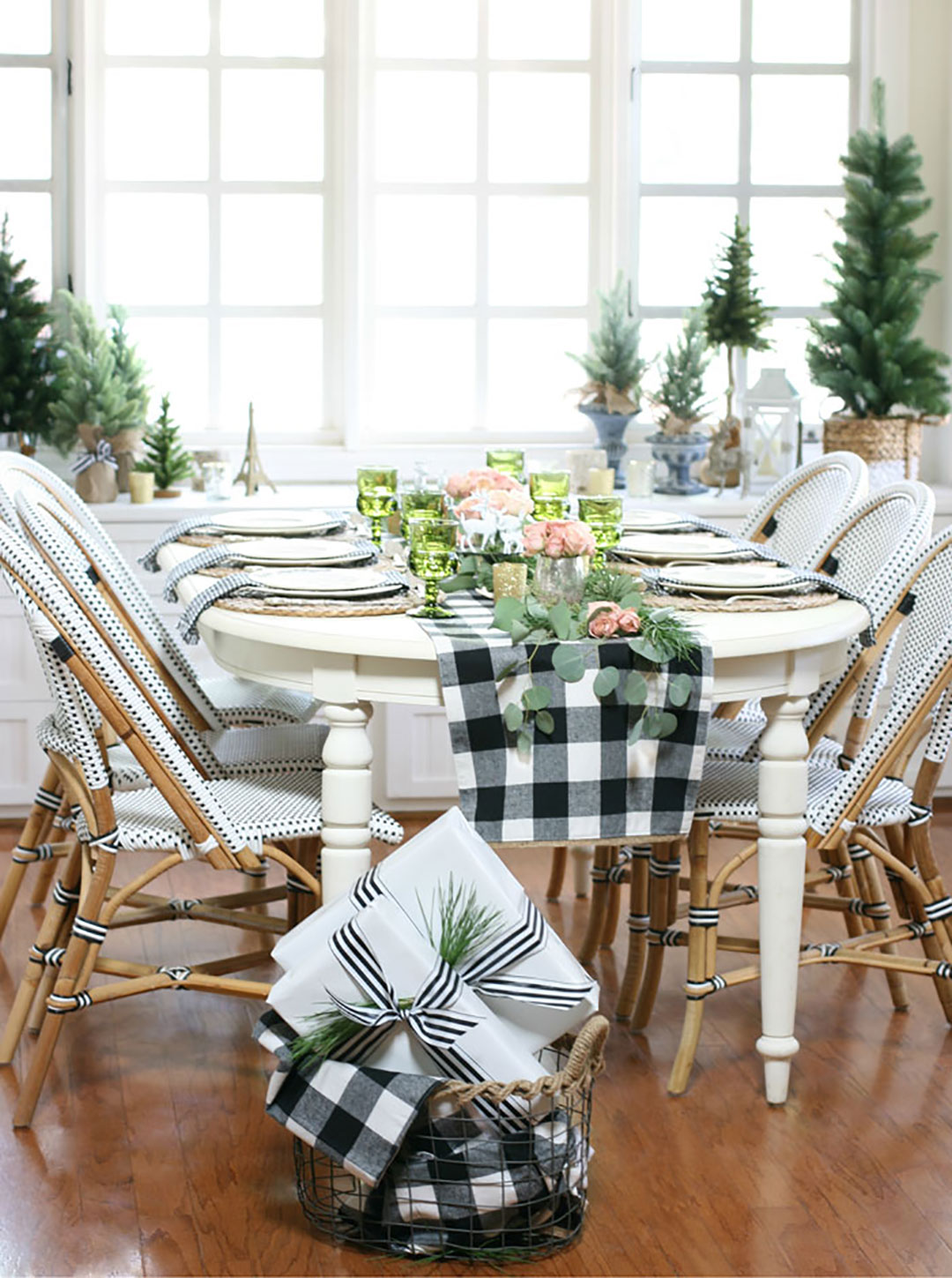 French inspired Christmas table decor.