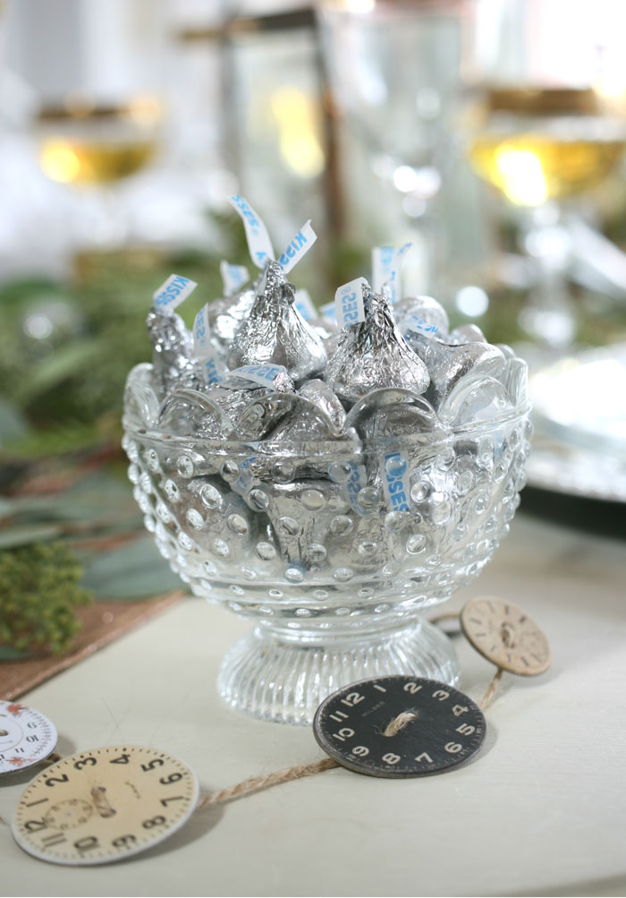 """It's all in the details, so finish of the year entertaining in style and make sure to have plenty of """"midnight kisses"""" on hand for everyone to indulge in some decadent chocolate treats."""