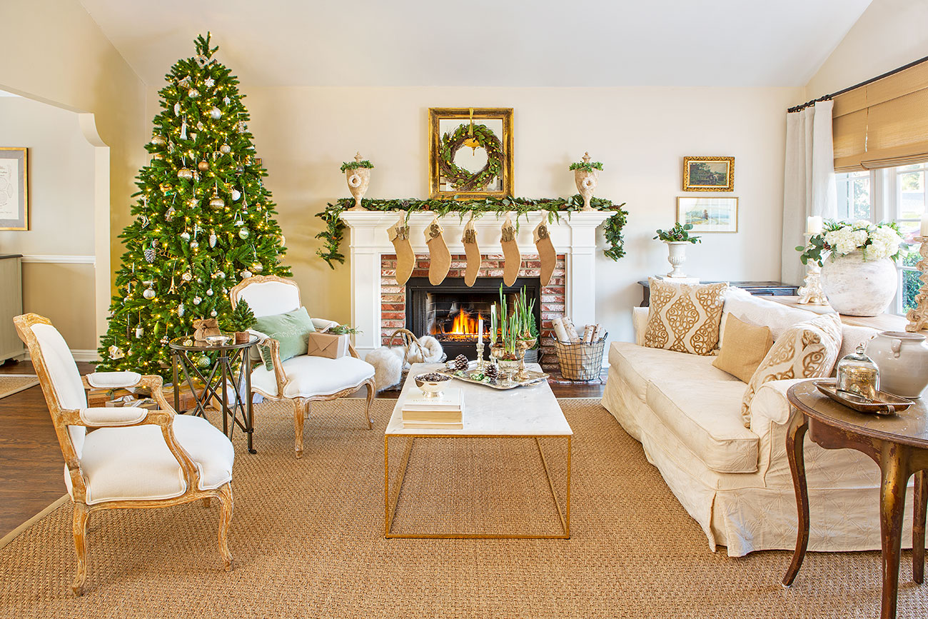 Neutral And Natural Christmas Decor Cottage Style