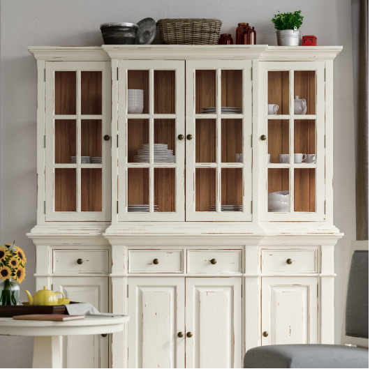 white cottage hutch