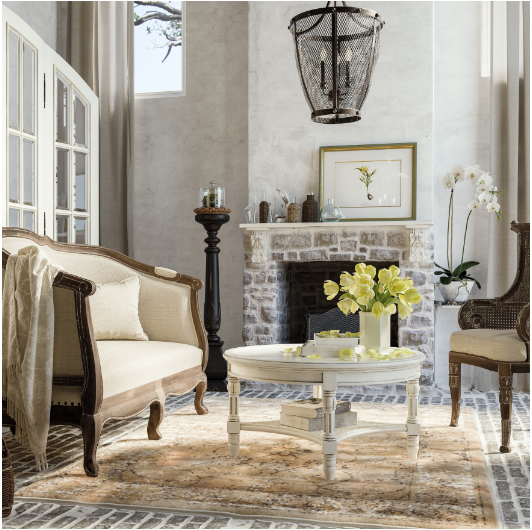 white gustavian coffee table