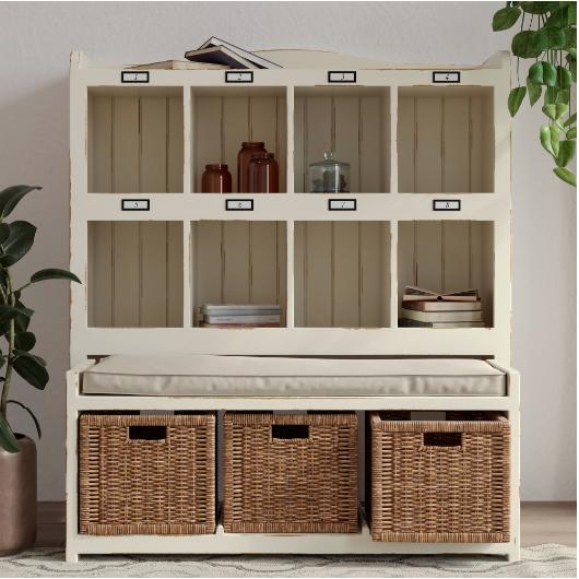 Vintage style organization cubby