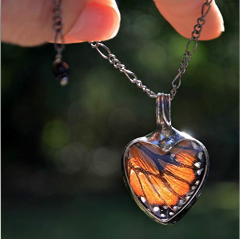 monarch wing necklace