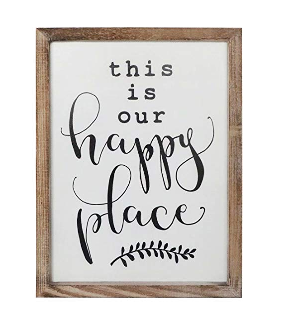 this is our happy place wall art