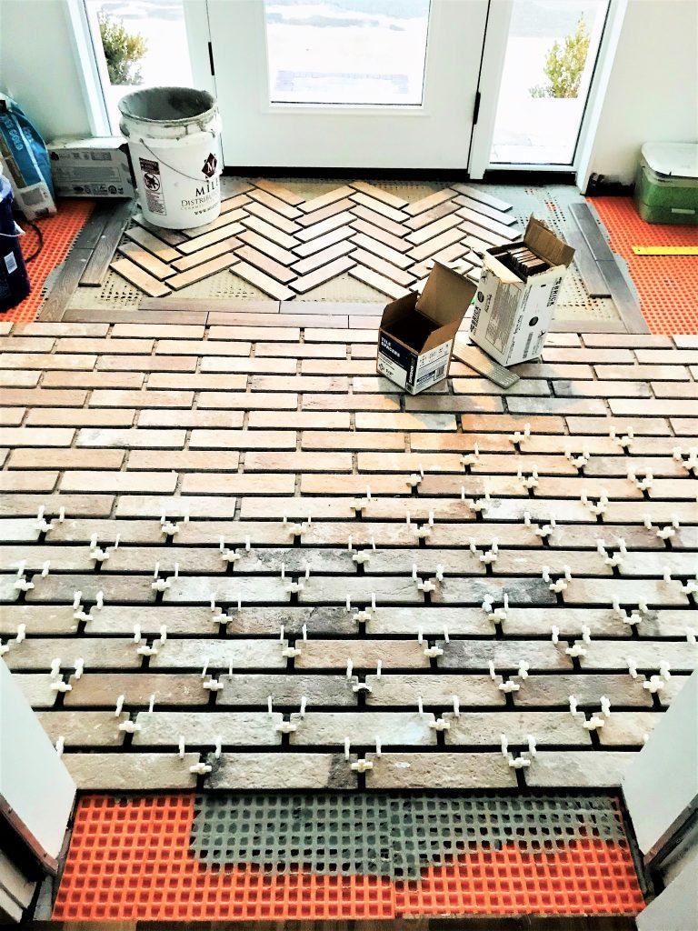 brick-look tile