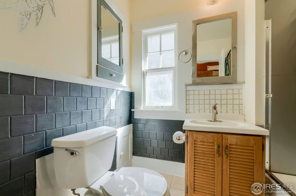 renovated bathroom with slate tile