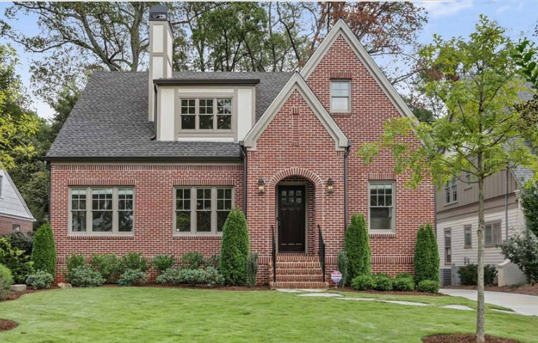 Brick Tudor cottage in Atlanta.